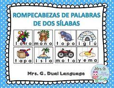 Spanish Syllables Spanish Syllable Puzzles Spanish Word WorkRompecabezas de…