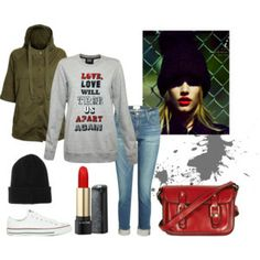 Wear the Markus Lupfer sequin sweater with Frame Denim boyfriend jeans, Current/Elliot cadet army jacket and converse trainers for a cool casual look. #fashion