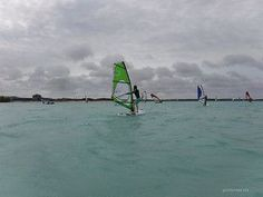 Windsurfing at Jibe City, Bonaire | by goinformed.net