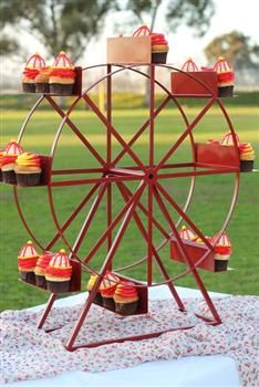 Ferris Wheel Cupcake Stand-holds 24 cupcakes