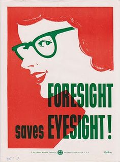 f1a6b442af Safety Eyewear poster  vintage Safety Posters