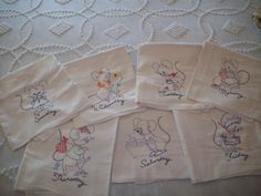 Dish Towels  Seven days of the week  by aPrairiePeddler on Etsy, $43.00