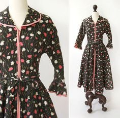 Vintage 1960s loungen jurk  jaren 1960 door SteeleHollowVintage