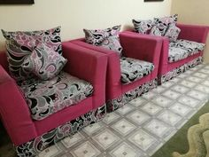 Riyadh Furniture SAR 800 PINK COLOUR SOFA 7 SEATERFOR SALE