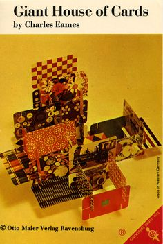 "A 1967 Instruction brochure from an #Eames ""Giant House of Cards"""