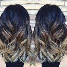 If I ever get the nerve to go darker in the fall (cool dark with no red times), I would love this Balayage/Ombre coloring.