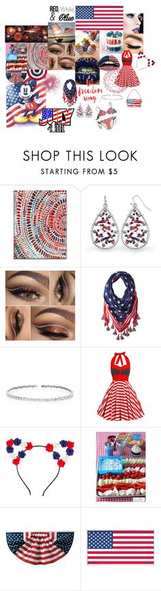 """""""Independance Day"""" by sarahhughes-net ❤ liked on Polyvore featuring West Elm, Steve Madden, Suzanne Kalan and Grandin Road"""