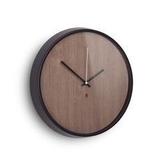 The Time Grain Wall Clock is modern simplicity at its finest. Whether you hang it in your home office or in your busy kitchen, its neutral tones and sleek design won't distract from its surroundings.  Find the Time Grain Wall Clock, as seen in the Archetypes of Mid-Century Modern Collection at http://dotandbo.com/collections/archetypes-of-mcm?utm_source=pinterest&utm_medium=organic&db_sku=UMB0170
