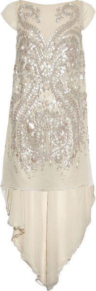 ANTONIO BERARDI Embellished Silkchiffon Gown     dressmesweetiedarling