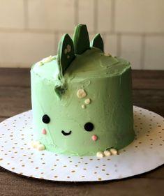 Pretty Birthday Cakes, Pretty Cakes, Frog Cakes, Cupcake Cakes, Cupcake Cake Designs, Simple Cake Designs, Simple Birthday Cake Designs, Cake Designs For Kids, Simple Cakes
