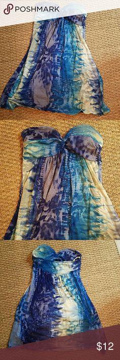 Dress Sheer Sheer padded  Great for beach Dresses Strapless