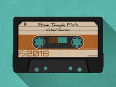 Cassette Tape designed by Anthony Jaramillo. the global community for designers and creative professionals. Cassette Tape Art, Casette Tapes, Retro, Youtube Design, Stone Temple Pilots, Animation, Aesthetic Gif, Steve Jobs, New Artists