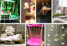 Swings - palette couch, chair ...love all these ideas