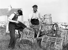 Making Lobster Pots In Connemara 1959 Photograph