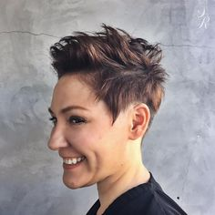 Choppy+Brunette+Pixie+With+Highlights