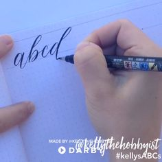Calligraphy ABCs Tutorial for Beginners #darbysmart #brushcalligraphy #calligraphypen #basics #brushletters #brushpen #modernlettering
