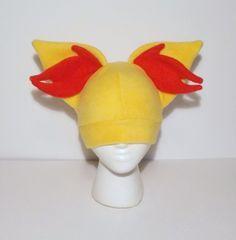 Pokemon Fleece Fennekin Hat by LenKitty on Etsy, $15.00