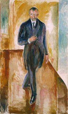 Edvard Munch, 'Thorvald Løchen', 1918 | Nasjonalmuseet, Oslo