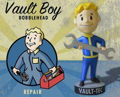 The Bethesda Store - Vault Boy Melee Weapons Bobblehead - - Fallout - Brands Fallout Theme, Fallout 3, Vault Tec, Bethesda Games, Head Shop, Post Apocalypse, Nose Art, Elder Scrolls, Bobble Head