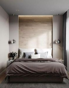 30 Minimalist Bedroom Decor Ideas that are Not Too much but Just Enough - Hike n., 30 Minimalist Bedroom Decor Ideas that are Not Too much but Just Enough - Hike n Dip decoration design Modern Master Bedroom, Stylish Bedroom, Modern Bedroom Design, Master Bedroom Design, Contemporary Bedroom, Home Bedroom, Bedroom Designs, Master Suite, Bedroom Romantic