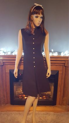 Ladies Two Piece Textured Brown Polyester by EmmasGraceVintage