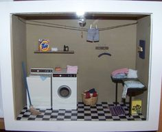 miniature laundry room room box