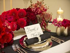 red flower wedding