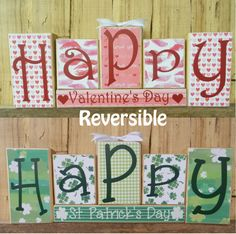 Happy Valentine's Day Happy St. Patrick's by CaneySpringsCrafts