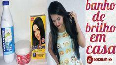banho de brilho no cabelo/em casa/hidratação cor e brilho