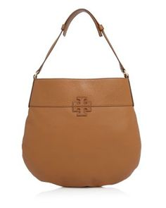 e437467800811 TORY BURCH Stacked T Hobo.  toryburch  bags  shoulder bags  leather
