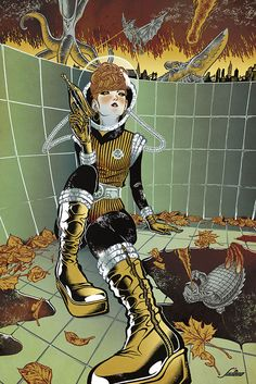 Retro futuristic Kaiju mash by Javier Medellin Puyou, via Behance