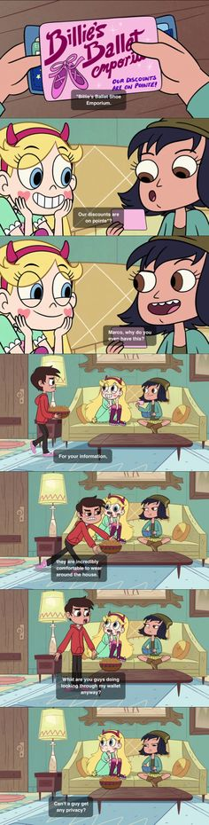 Marco what are you doing??   Star vs the forces of evil Credit @livieblue