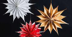 Superhelppo paperitähti valmistuu vähällä vaivalla paperipusseista. Ripusta tähti ikkunalle tai koristele koti kokonaisella tähtirykelmällä. Kokeile itse!