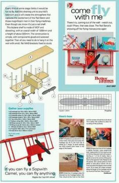 Biplane shelf instructions.
