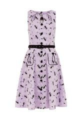 Voodoo Vixen Kitty Dress in Lavender S-4XL