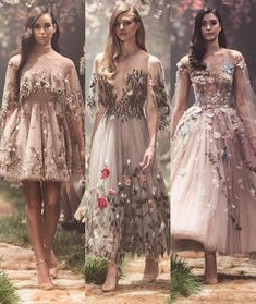 #PaoloSebastian #ss2018 # couture I don't really care for the top of the first, but all of these are gorgeous - especially the second.
