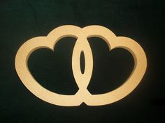 MDF Wooden Shape Inter linked Heart 6mm/15mm thick | eBay