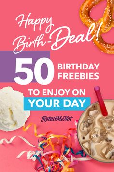 Treat Yo' Self! Celebrate your big day with complimentary treats. Birthday Deals, Birthday Freebies, It's Your Birthday, Free Birthday Gifts, Birthday Stuff, Simple Life Hacks, Frugal Tips, Treat Yourself, Helpful Hints