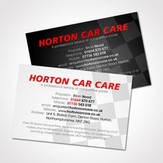 Visual Interactive were asked to design a new business card for local garage - Horton Car Care. So we came up with a unique concept that offers prospective customers a choice of 2 contrasting card designs.
