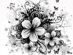 black+and+white+flower+tattoos | black-and-white-flowers-ppt-backgrounds.jpg