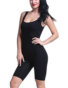 Allegrace Womens Summer Sexy Sleeveless Bodycon Stretch Sport Short Jumpsuits Rompers L Black. Sizes:S(US0-2),M(US4-6),L(US6-8),XL(US8-10),if you are not sure about your size,pls choose one size up. Low Cut Backless and High Waist Style Shows Your Perfect Curve. Cotton Blend Spandex Material With Good Stretch,Soft and Breathable. Stretch Short Jumpsuits,Best For Summer Sport,Party,Club and Vacation. Allegrace Owns Its Own Trademarks.The Serial Number:86500329. The Package Contains Allegrace…