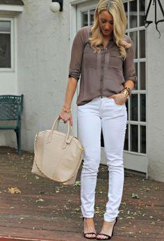 White Pants, Two Ways   Chicisimo