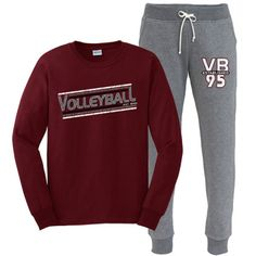 Distressed Volleyball Long Sleeve T-Shirt