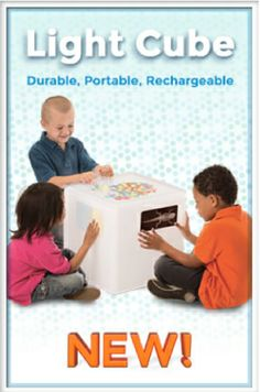 Check out this light cube, perfect for individual or small group play! #lightcube