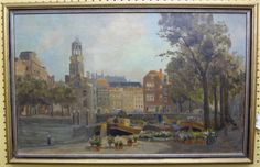 An oil painting of the canals of Amsterdam, $150. 12/14/12