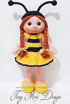 Bee Girl - free pdf crochet pattern