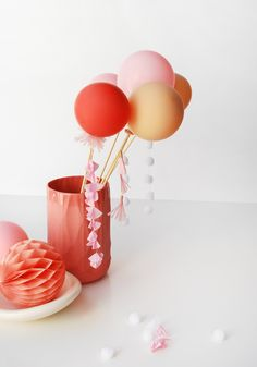 How to make cute tassel balloons for a cake topper or party decoration
