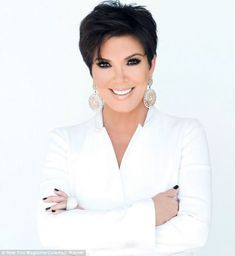 Kris Jenner poses in raunchy black