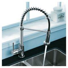 vigo matte black pull out spray kitchen faucet overstock