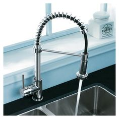 Vigo One Handle Single Hole Pull Out Spiral Kitchen Faucet. $154